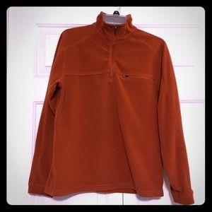 LL Bean Burnt Orange Men's Fleece Sweater